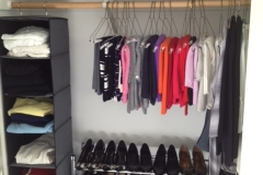 At a glance sweater and shoe storage