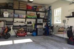 Loads of storage in this garage!
