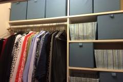 Closet bins eliminate messy piles