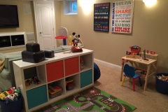 An organized playroom helps kids and parents alike