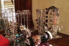 Jewelry display makes accenting your outfit easy.