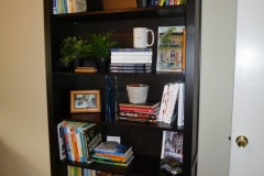 Office bookshelves - organized to find what you need