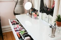 More make-up storage